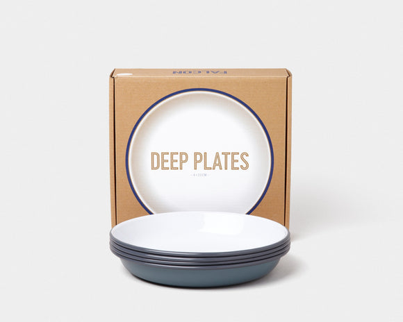 Deep Plate(box of 4) Pigeon Grey