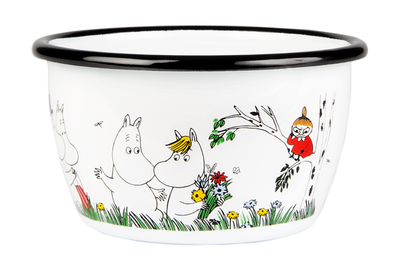 Enamel Bowl 3.dl (Happy Family)