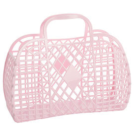 Retro Basket - Large pink
