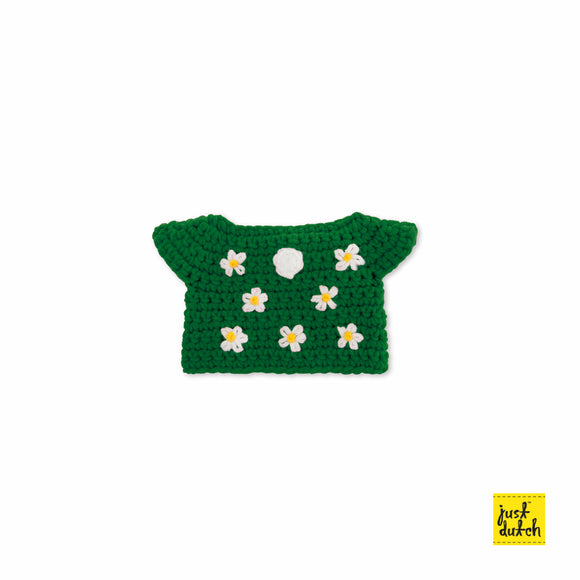 Green flower dress handmade