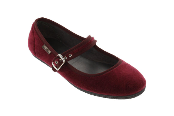 Velvet Maryjane shoes (burdeos)