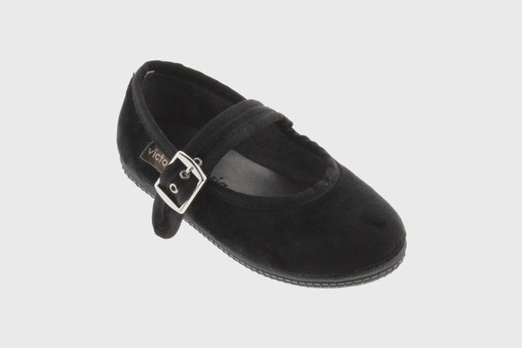 Kids Velvet Maryjane shoes (black)
