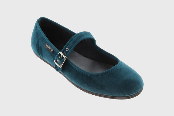Velvet Maryjane shoes (royal)