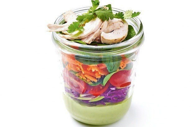 Chicken Jam Jar Salad