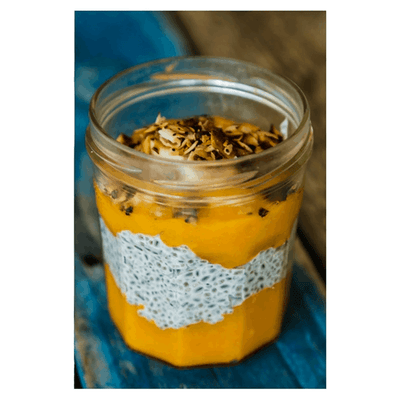 Mango, Coconut and Chia Pot