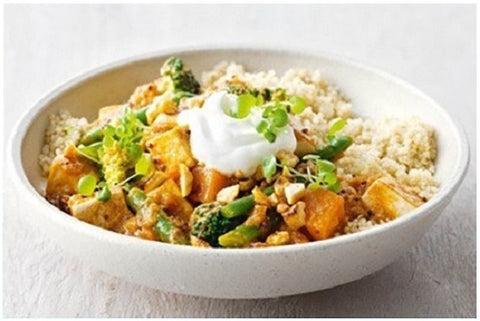 Tofu & Pumpkin Curry with Quinoa