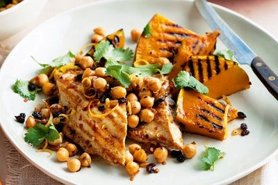 Pumpkin, Chickpea and Chicken Salad