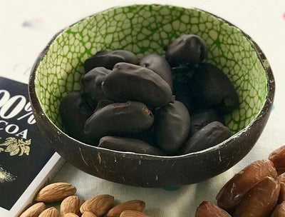 Almond Dates in Chocolate