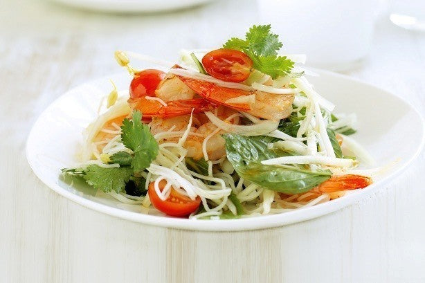 Green Papaya Salad with Prawns