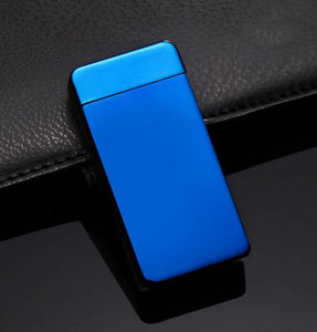 """Timeless"" Electric Dual Arc Lighter - Winter Blue (5 Colors Available) - ChiefLit"