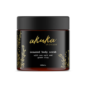 Seaweed Body Scrub - with Sea Salt and Green Clay 400ml