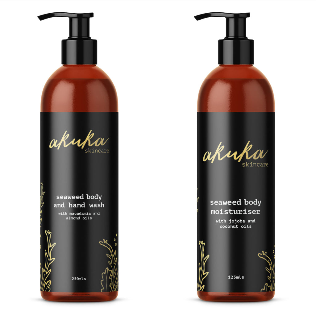 The Seaweed Body Bundle  - Nourishing Body Wash and Hydrating Body Moisturiser