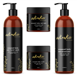 The Seaweed Body Collection - Body Wash, Body Moisturiser, Body Scrub and Body Mask