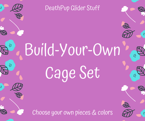 Build-Your-Own Cage Set (Sugar Glider/Rat/Ferret) - DeathPup Glider Stuff