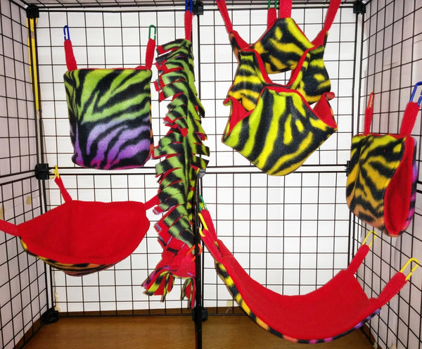 Fleece 6 Piece Cage Set - DeathPup Glider Stuff