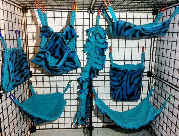Fleece 7 Piece Cage Set - DeathPup Glider Stuff