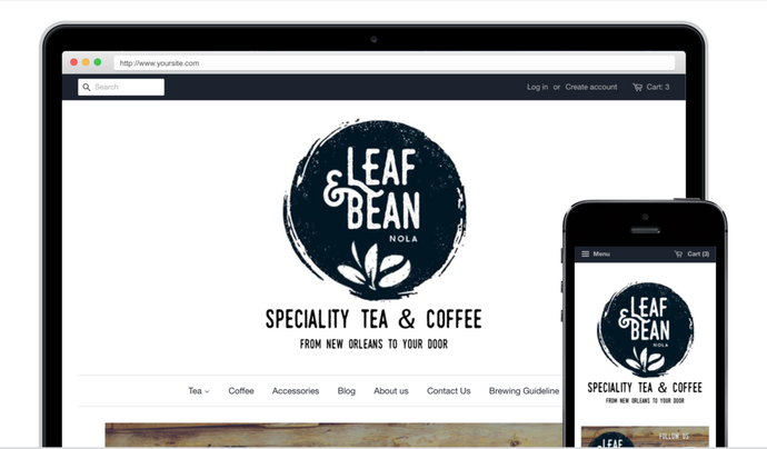 The Leaf & Bean store is now online!