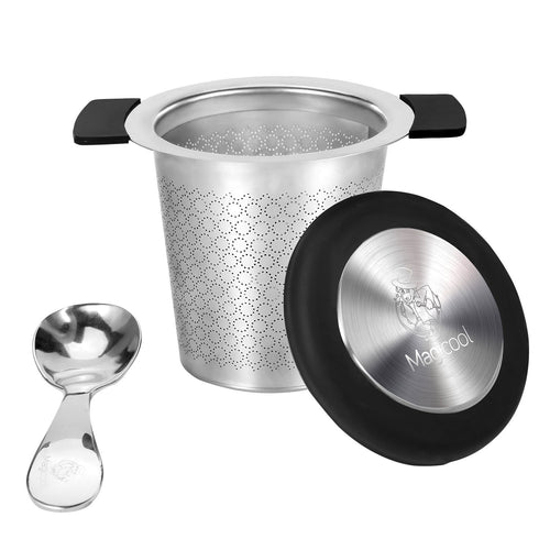 Tea Infuser with Scoop | Perfect Fit for Any Mug and Teapot | Stainless Steel