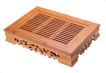 Traditional Bamboo Gongfu Tea Table Serving Tray (14''x10.3'')