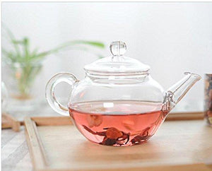 Small Glass Teapot with Built-In Leaf Filter | 8.8oz (250ml)