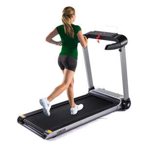 LED screen treadmill with support the plate