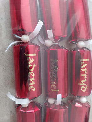 Personalised luxury Christmas crackers