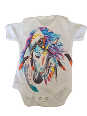 Babygrow with big  full colour horse