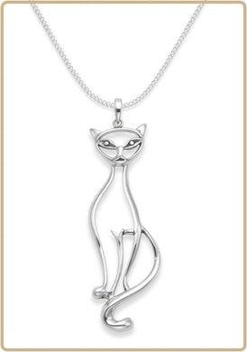 Sterling silver Cat jewellery.  Cat Diva