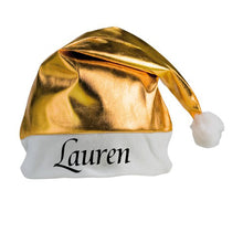 Personalised Christmas Hat - GOLD or SILVER
