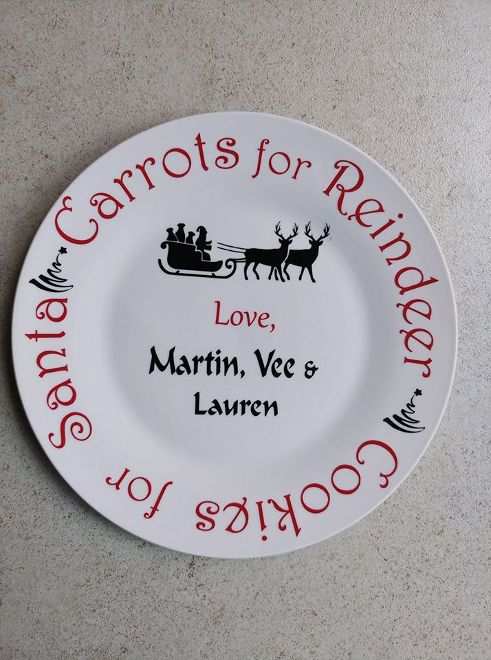 Personalised Christmas plate for Santa