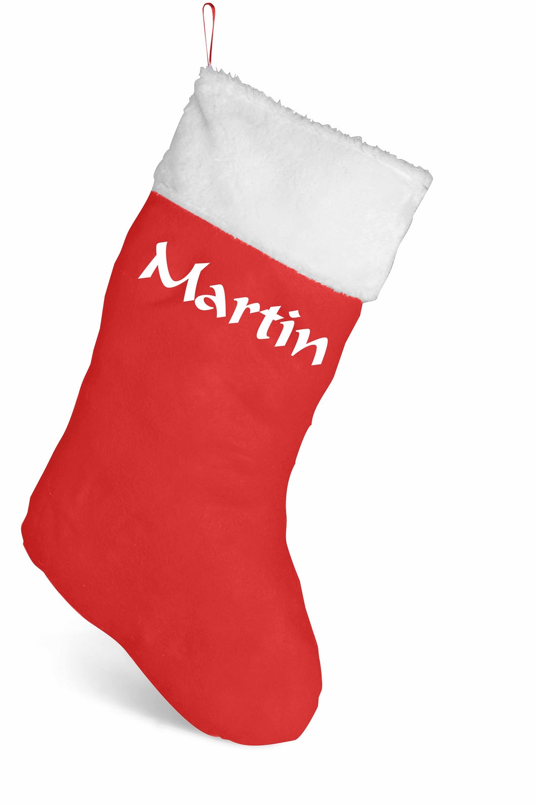 Personalised Christmas Stocking - name only.