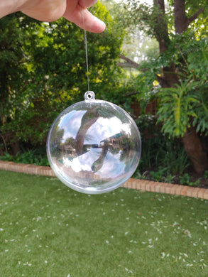 UNPERSONALISED  clear bauble - 80mm