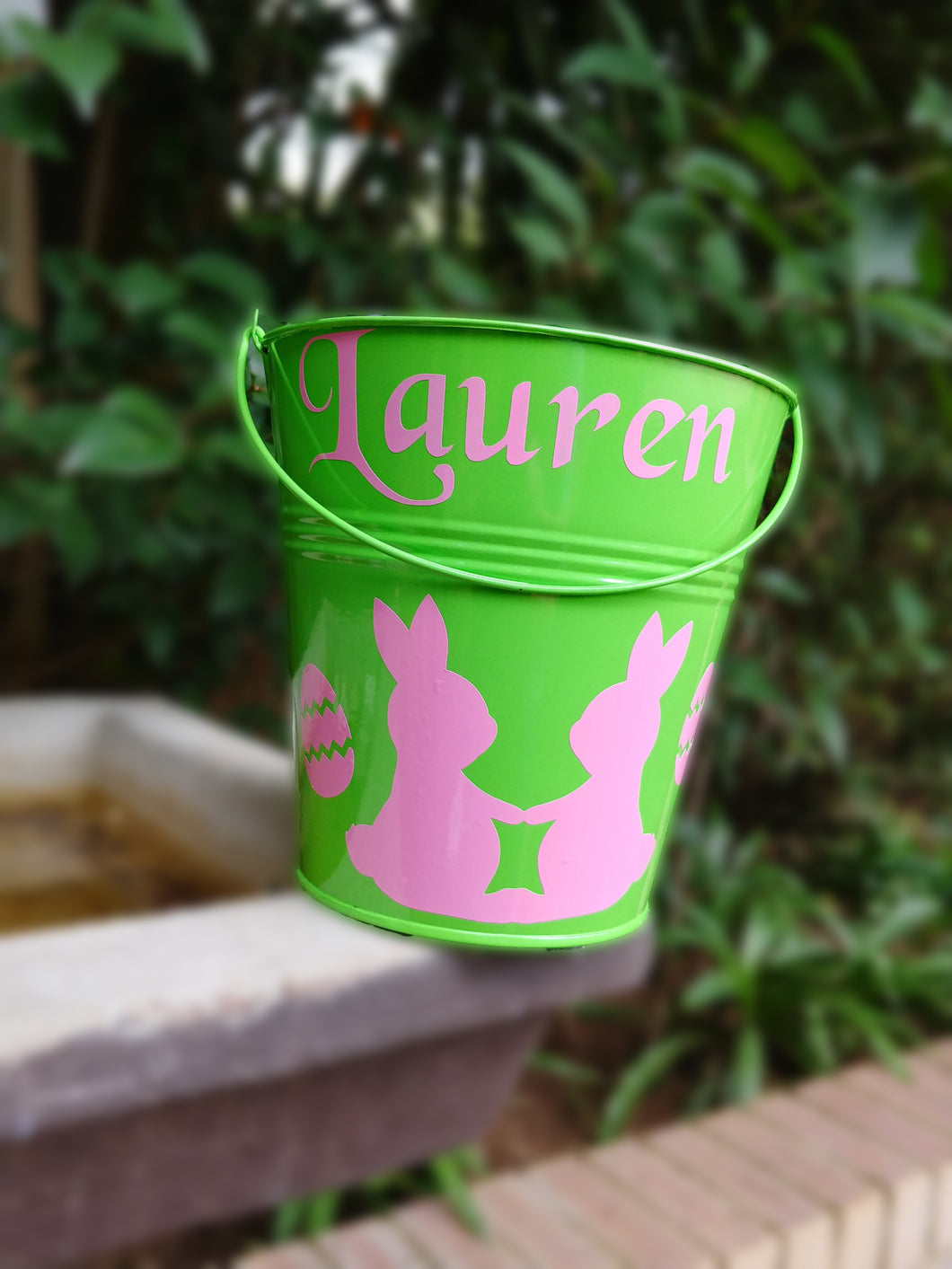 Personalised Easter hunt bucket