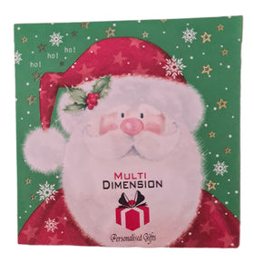 Personalised Christmas serviettes.  Full colour logo