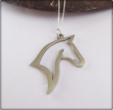 Equestrian Jewellery. Horse Head Outline