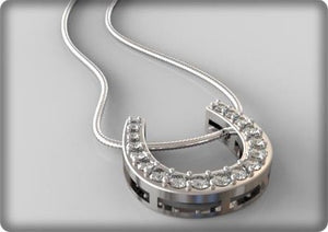 Equestrian Jewellery. Horse shoe with Cubics Zirconia