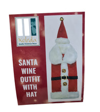 Santa Wine Bottle Outfit