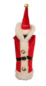 Personalised Santa Wine Bottle outfit