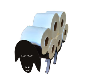 Sheep closed eyes toilet roll holder