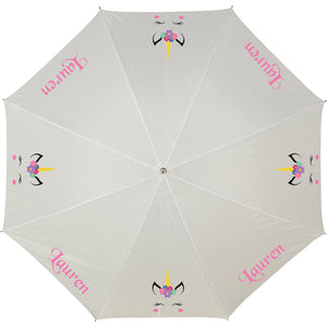 Personalised Umbrella - UNICORN colourful