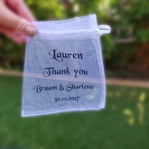 Personalised Organza bag
