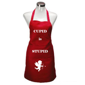 Valentine Apron - Cupid is Stupid