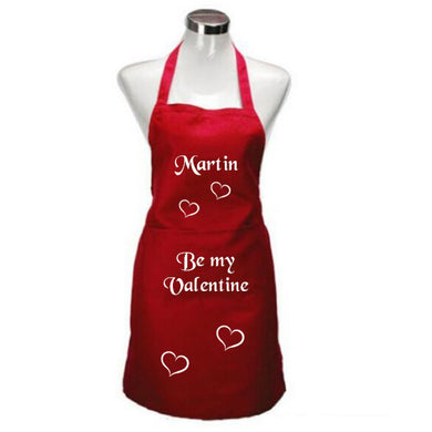 Valentine Apron with hearts