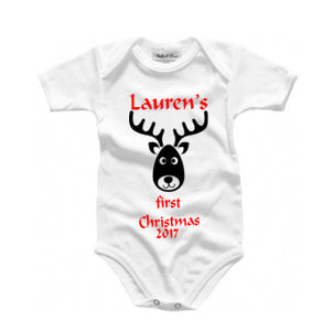 Personalised baby grow - baby's first Christmas