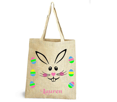 Easter hunt bag personalised