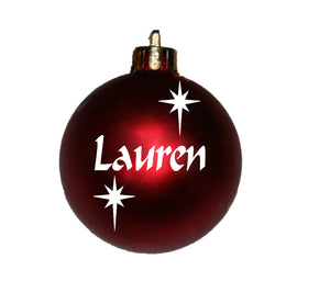 Personalised Christmas Bauble with stars