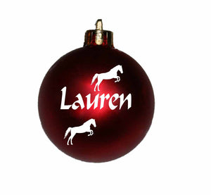 Personalised Christmas Bauble with horse image