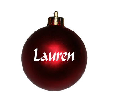 Personalised Christmas bauble NAME ONLY