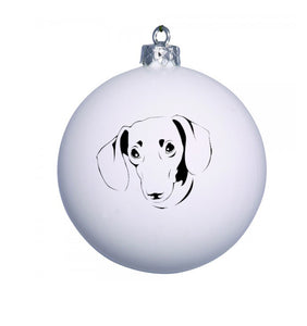 Personalised Christmas Bauble with DASHIE image