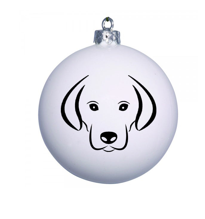 Personalised Christmas Animal bauble with Labrador image